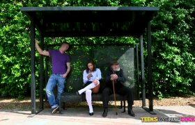 Abella Danger – Teen At The Bus Stop