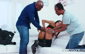 Adelle Sabelle – Debuts In An Interracial Threesome With DP