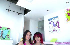 Amara Romani & Holly Hendrix – Double Throat Fuck With Amara And Holly