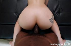 Beautiful Amateur Blonde Teen 1st Interracial Anal Sex Casting HD.