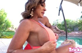 Big Titted Aubrey Black Gets All Her Holes Smashed By The Poolboy