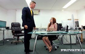 Ella Hughes – Earns Her Job Fucking The Boss