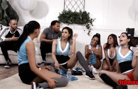 Ella Knox, Vienna Black, Audrey Royal, Miranda Miller – Interracial Cheerleader Orgy