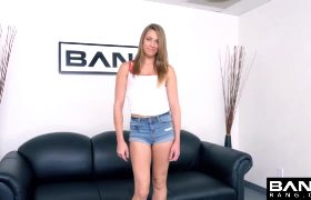 Hot Skinny Tall Girl Gets A Rough Intro To Porn