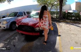 Lilly Hall – Totals Her Car And Fucks The Mechanics Dick For A Favor