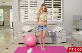 Lily Larimar – Skinny Blonde Teen Fitness Casting
