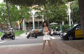 [Littlesubgirl] Flashing My Tits And Pussy In Public