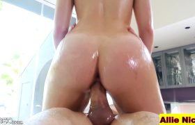 Lubed Up Allie Nicole Riding Cock