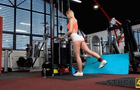 Sharon White – Be Careful With Gym Equipment Or You'll Get Stuck