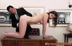 Teen Mormon Rubs Pussy
