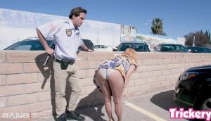 April O'Neil – See How She Gets Out Of A Parking Ticket