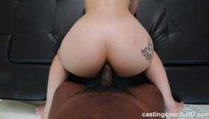 Beautiful Amateur Blonde Teen 1st Interracial Anal Sex Casting HD.