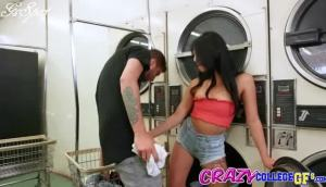 Crazy College GFs – Gina Valentina – Laundromat Slut