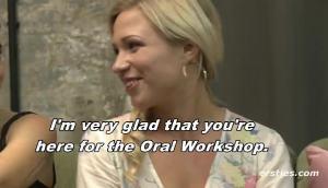 Gabi's Oral Sex Workshop.