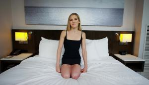GDP 498 – 21-Year-Old Blonde In Black Dress Gets A Creampie