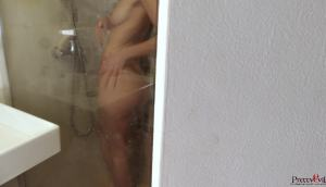 Step Sister Knows I'm Spying On Her In The Bathroom…
