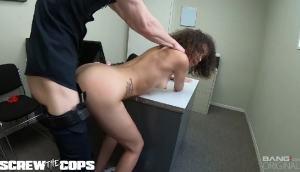Teen Gia Gelato Gets Bent Over Cop's Desk And Fucked Good