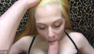Teen Girl BjMasks Gets Her Little Mouth Fucked GIF
