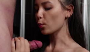 This Babe Makes A Very Sloppy Blowjob